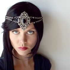 Medieval Warrior Circlet in Silver and Black by @vimasunrider is featured in Fantasy Artists of Etsy exhibition at http://faeteam.blogspot.com/p/exhibition.html
