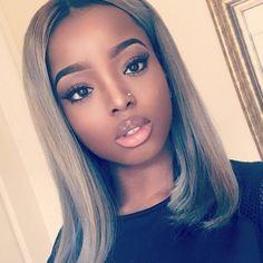 Blonde wigs african american bobs medium length for black girls