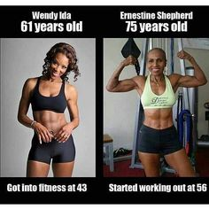SAVE YOUR EXCUSES PEOPLE. ANYONE at ANY age or weight can start at any time! you just have to put in the work!