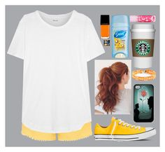 """""""Lumiere"""" by eemsles ❤ liked on Polyvore featuring Madewell, Converse, CO, J.Crew, Illamasqua, childhoodcancerawareness and disneycancerawareness"""