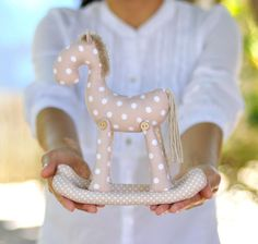 Looking for your next project? You're going to love Rocking Horse PDF soft toy sewing patern by designer FlyingCrocs.