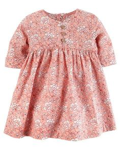 Baby Girl Floral Poplin Dress from Carters.com. Shop clothing & accessories from a trusted name in kids, toddlers, and baby clothes.