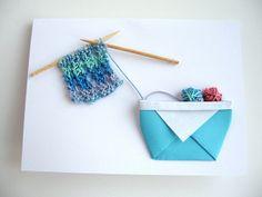 Knitting card by AndreasHobbies, via Flickr