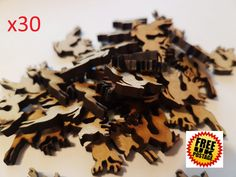 30x Laser cut Wooden Christmas Reindeer MDF by MattsWoodworkCrafts