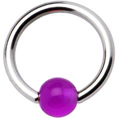 14 gauge GRAPE BCR Captive Ring | Body Candy Body Jewelry