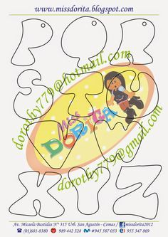 Miss Dorita: Abecedario Chico 3 Alphabet Art, Alphabet And Numbers, Doodle Lettering, Hand Lettering, Typography, Drawing Letters, Scrapbook Templates, Felt Crafts, Coloring Pages
