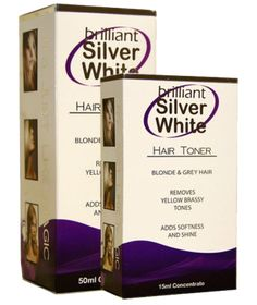 Bring out your best blonde with Brilliant Silver White!   Brilliant Silver White is a highly effective instant toner specifically developed for blonde and grey hair and has several benefits over traditional toners including. • The ability to tone or add color with additional drops. • Instant results and takes seconds to apply • Soften …