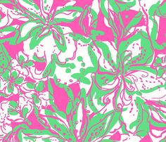 Lilly Pulitzer Fabric Hotty Pink FORGOT MY TRUNKS trunk elephant