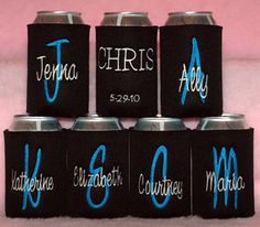 I think these would be a great idea for my bachelorette party gifts. Who doesn't want a nice embroidered koozie? I love the way mine keeps my favorite drinks ice cold. Mine doesn't look this great, though.