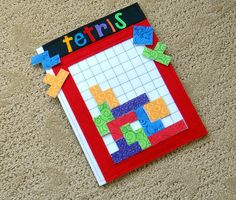 Felt Tetris Game for Home or Travel...awesome idea for older kids. HEck, I'd probably play with it