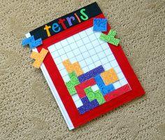 Felt Tetris Game for Home or Travel