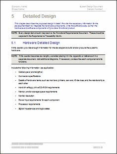 Design document template jessie pas project pinterest you can use this design document template to describe how you intend to design a software product and provide a reference document that outlines the pronofoot35fo Gallery