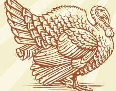 Linocut illustration of a turkey, by Richard Allen Turkey Coloring Pages, Colouring Pages, Coloring Books, Turkey Drawing, Turkey Painting, Turkey Project, Decoupage, Bear Illustration, Leather Carving