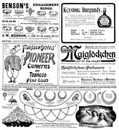 1900. Page of adverts.