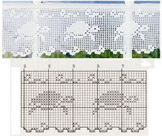 crochet border - turtle runner/ curtain valance