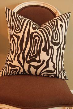 Raoul fabric pillow.  Love how it looks like faux bois