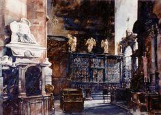 Paul Dmoch - La chapelle de la Basilique Sainte-Marie de Cracovie, 68 x 86