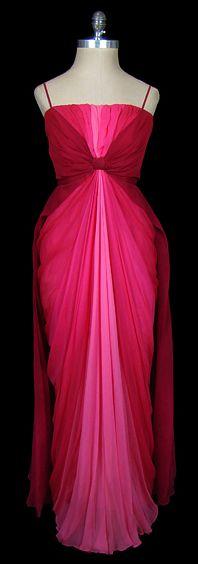 Dress - Jean Dessès, 1950s  The Frock  such a beautiful color