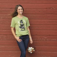 One of our exclusive designs! Created on a super soft unisex tee All proceeds for this tee go towards Pshigoda Girl's Farm Livestock Conservancy…