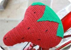 strawberry - crochet - bike