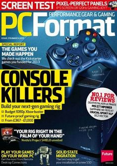 Save up to on your favourite magazine holder, specialist publication or magazine subscriptions from Future Publishing's magazine subscription store. Computer Magazines, Technology Magazines, Computer Technology, Screen Test, Future Jobs, New Gadgets, Console, Computers, March
