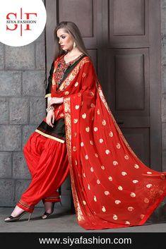 11e861f4c5d9d Siya #Fashion #Wedding #Designer #Embroidery Black Glace #Cotton #Patiyala #