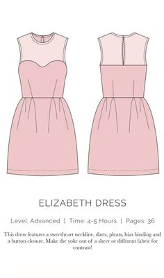 tolles Kleid mit transparentem Einsatz, toll auch zum ausgehen - Elizabeth Dress, XS-XL