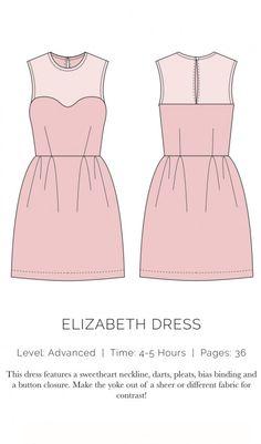 Elizabeth Dress Flat