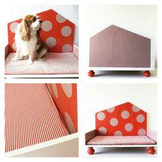 Cuccia di design in legno per gatti e cani di labottegadigiorgix Beagle, Blush Pink, Dog Cat, Kids Rugs, Red, Design, Etsy, Home Decor, Light Rose