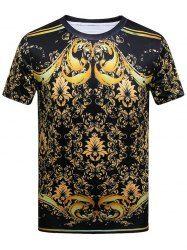 Royal Printed Short Sleeve T-shirt - COLORMIX