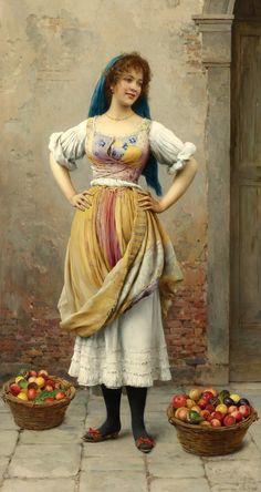 la bella veneziana | Eugen von Blaas.