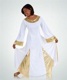d9911384e443d Danzcue Bell Sleeve Dance Dress | Worship Praise Dance Wear | Praise ...