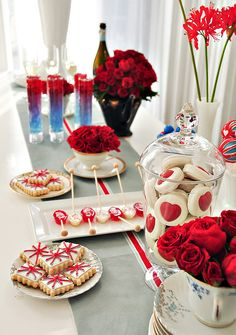 Gorgeous British Invasion Bridal Brunch/dessert table