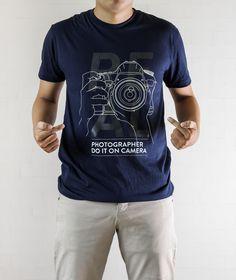 Photography tshirt shirt tee camera nikon canon geek - Find us in Ebay