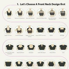 Sewing can be fun, real fun I mean. Fashion Terminology, Fashion Terms, Types Of Fashion Styles, Types Of Clothing Styles, Neckline Designs, Back Neck Designs, Fashion Illustration Sketches, Fashion Sketches, Fashion Sewing