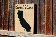 California Sign: Burlap California Art on Burlap, 11x14, Hand Painted Sign on Etsy, $30.00