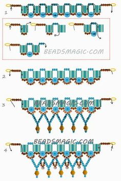 Free Pattern For Necklace Bird Of Paradise   Beads Magic