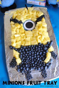 Minions Fruit Tray   Minions Despicable Me Party Ideas at directorjewels.com