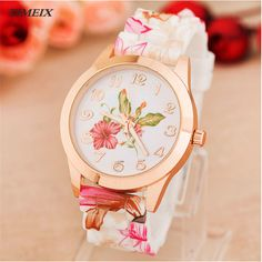 >> Click to Buy << 2017 New Design Women Girl Watch Silicone Printed Flower Causal Quartz WristWatches Female Gift Free Shipping,Dec 8 #Affiliate