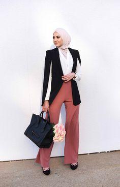 "street-hijab-fashion: "" Leena, Palestinian American from Texas, USA Blog: http://www.withloveleena.com/ IG:…"