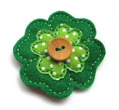 Irish  Shamrock Felt Hair Clip by deborahbabarskas on Etsy, $3.50