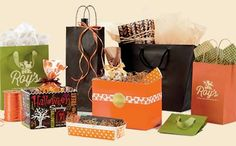 Beautiful fall packaging for your store. #fallbags #autumn #fallpackaging