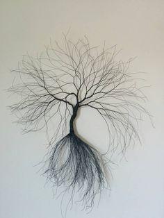Wire wall art tree