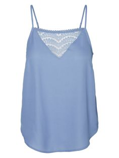 Blue laced singlet from VERO MODA.