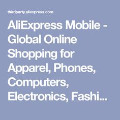 AliExpress Mobile - Global Online Shopping for Apparel acc2c76caceda