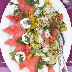 Melonensalat mit Ziegenkäse | BRIGITTE.de