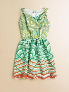 DKNY - Girl's Swirl-Stripe Dress - Saks.com