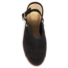 Women's dv Kassi Peep Toe Pumps - Black 5.5
