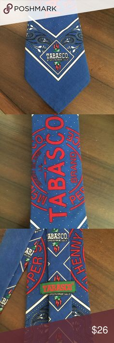 Tabasco tie Hot sauce lovers this is a awesome Tabasco tie. Preloved good used conditions. Tabasco Accessories Ties