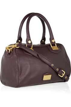 Marc by Marc Jacobs|Snappy leather bowling bag|